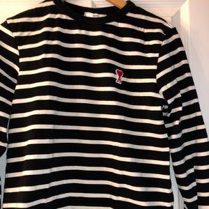 AMI alexandre mattiussi striped sweater men's XS